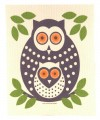 owl swedish dishcloth